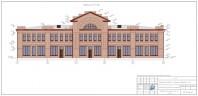 Обмерочный плана фасада здания универмага, расположенного в доме 26 на Соборной площади города Вязники Владимирской области